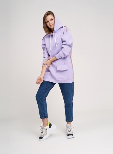 Mizalle Youth Sweatshirt Lila